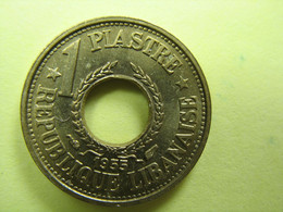 TEMPLATE LISTING LEBANON  LOT OF  5 COINS 1 PIASTRE 1955 UNC   UNC COIN. - Other - Asia
