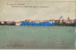 166487 ITALY TRAPANI SICILIA VIEW PANORAMA OF THE TRAMONTANA WALLS POSTAL POSTCARD - Unclassified