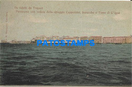 166489 ITALY TRAPANI SICILIA PANORAMA BEACH OF CAPPUCCINI & TOWER POSTAL POSTCARD - Unclassified