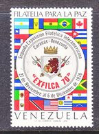 Venezuela  974   **   EXFILCA  EXPO.  FLAGS - Venezuela