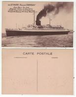 """Bateaux // Paquebots // Le Havre , Paquebot, """"Champlain """" - Paquebote"""