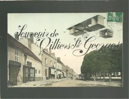 77 Souvenir De Villiers St Georges édit. Hugues Couleur Avec Montage Avion , Hotel St Georges - Villiers Saint Georges
