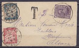 Petite Env. Affr. N°139 Càd STATTE (HUY) /3 I 1924 Pour HAGUENAU Alsace Taxée 35c Càd HAGUENAU /4-1-1924 - 1915-1920 Albert I