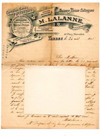 Correspondance Sur Papier à En-tête : M. LALANNE (Collongues) à TARBES, Céréales, Sons, Farines, Graines, Engrais, 1915. - Agricoltura