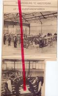 Orig. Knipsel Coupure Tijdschrift Magazine - Amsterdam - Fabriek Vliegtuigen Trompenburg - 1917 - Ohne Zuordnung