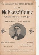 (AOUT21)la Métropolitaine , GEORGIUS , Paroles DAVID PINEL & BUSSIERE , Musique PAUL JOSS - Spartiti