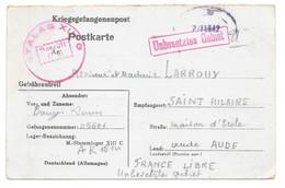 CORRESPONDANCE PRISONNIER DE GUERRE 1942 / LIMOUX POUR STALAG XIIIC - WW II