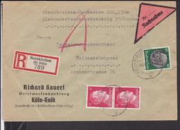 Einschreiben/nachnahme  Deutsches Reich Stempel  Neunkirchen 1944 - Storia Postale