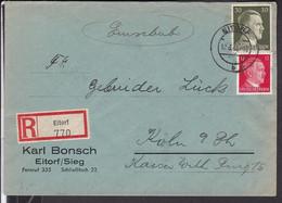 Brief   Deutsches Reich   Stempel  Eitorf  1943 - Storia Postale