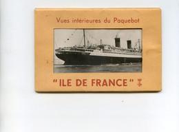 """Vues Intérieure Du Paquebot """" Ile De France """" - Pochette Avec 11 Cartes - Paquebote"""