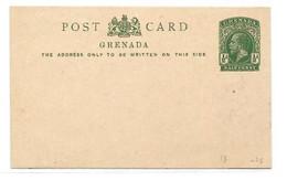 GRENADA E.P. Carte Postal Stationery Card 1½d. Green, Mint- Very Fresh.  Belle Fraîcheur. TB - W1083 - Grenada (...-1974)