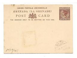 GRENADA E.P. Carte Postal Stationery Card 1½d. Brown, Mint- Very Fresh.  Belle Fraîcheur. TB - W1084 - Grenada (...-1974)