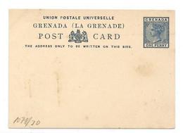 GRENADA E.P. Carte Postal Stationery Card 1d. Blue, Mint- Very Fresh.  Belle Fraîcheur. TB - W1085 - Grenada (...-1974)