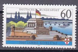 Bund 1992 - Mi.Nr. 1583 X - Postfrisch MNH - Ohne Fluoreszenz - Nuovi