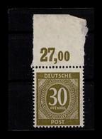KONTROLLRAT 1946 Nr 928c Postfrisch (404551) - Amerikaanse, Britse-en Russische Zone