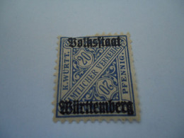 GERMANY STATES MNH STAMPS OVERPRINT - Ohne Zuordnung