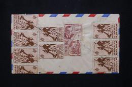 A.O.F. - Enveloppe En Recommandé De Douala Pour Paris En 1948 Par Avion, Affranchissement Au Verso - L 103136 - Lettres & Documents