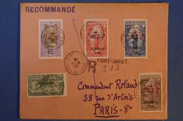 171 AFRIQUE EQUAT FRANCAISE OUBANGUI CHARI BELLE LETTRE 1926 RARE DE FORT SIBUT RECOMMANDé A PARIS R D ARTOIS - Lettres & Documents