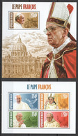 ST2867 2013 NIGER TRIBUTE TO POPE FRANCIS PAPE FRANCOIS KB+BL MNH - Pausen