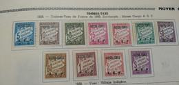 1928 - COLONIES FR. - MOYEN CONGO - T. TAXE - SERIE COMPLETE - N°1 à 11 NEUFS* - Cote : 28,00 € - Neufs