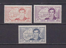 COTE D'IVOIRE 1939  TIMBRES N°141/43 NEUFS** RENE CAILLIE - Neufs