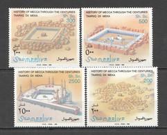 NW1501 1995 SOMALIA SOOMAALIYA MECCA HISTORY ARCHITECTURE ART #576-579 MICHEL MNH - Islam