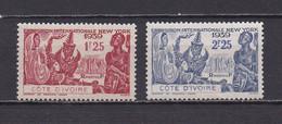 COTE D'IVOIRE 1939  TIMBRES N°144/45 NEUFS** EXPOSITION INTERNATIONALE DE NEW YORK - Neufs