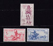 COTE D'IVOIRE 1941  TIMBRES N°162/64 NEUFS** DEFENSE DE L'EMPIRE - Neufs
