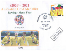 (WW 8 A) 2020 Tokyo Summer Olympic Games - Australia Gold Medal 3-8-2021 - Rowing Men's Four (new Olympic Stamp) - Zomer 2020: Tokio