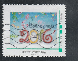 MONTIMBRAMOI BONNE ANNEE 2016 OBLITERE - Gepersonaliseerde Postzegels (MonTimbraMoi)
