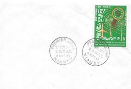 NIAMEY - 1er Jour U.A.M.P.T. - 8 Sept. 63 - Lettres & Documents