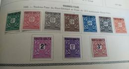 Colonies Françaises-Haute-Volta - 1920 - Taxe TT N°Yv. 1 à 8 - Série Complète - Neuf * - Timbres-taxe