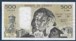 500 Francs  Pascal  Du  5 - 1 - 1984 - 500 F 1968-1993 ''Pascal''