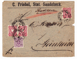 Lettre 1877 Allemagne Bersheim C.Freibel Stat Sandebeck Pfennige - Briefe U. Dokumente