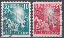 Bund 1949 - Mi.Nr. 111 - 112 - Gestempelt Used - Gebraucht