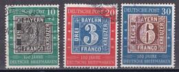 Bund 1949 - Mi.Nr. 113 - 115 - Gestempelt Used - Gebraucht