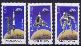 Moldova Space 1994 25th Anniversary Of Apollo 11.  Nice Set - Moldavia