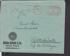 Brief  Deutsches Reich Freistempel  Dresden 1934 - Briefe U. Dokumente