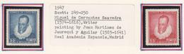ARG141 1947 COSTA RICA MIGUEL DE CERVANTES MICHEL #431,2 1SET MNH - Costa Rica