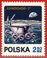 Polonia. Poland. 1971. Mi 2122. Lunochod - 1. Exploration Of The Moon. Earth. URSS - Neufs