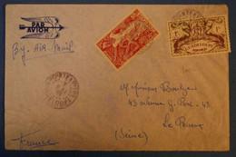G3 GUADELOUPE BELLE LETTRE 1949 POINTE A PITRE PAR AVION POUR LE PERREUX FRANCE+ T.P. AU VERSO AFFRANCH PLAISANT - Lettres & Documents