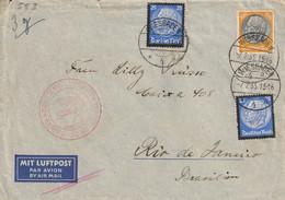 Allemagne Lettre Wiesbaden Pour Le Brésil 1935 - Briefe U. Dokumente