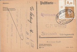 Allemagne Ambulant Coburg - Lauscha Sur Carte 1933 - Briefe U. Dokumente