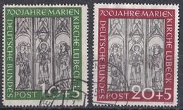 Bund 1951 - Mi.Nr. 139 - 140 - Gestempelt Used - Gebraucht