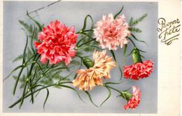 CP Fete Voeux Bonne Fleurs  1948 Cherminade Ebreuil Allier - Otros