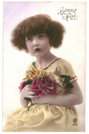 CPA - Carte Postale -Belgique-Bonne Fête Une Jeune Fille Avec Son Bouquet De Fleurs 1923  -VM35375 - Otros