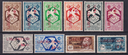 AEF - FRANCE LIBRE - 1944 - LIBERATION - YVERT N° 181/190 * MH - COTE 2015 = 144 EUR. - Neufs