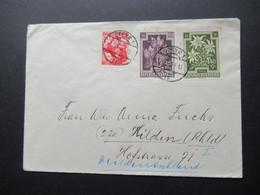 Österreich 1951 Anti Tuberkulose Fond Nr. 872 Und 877 MiF Mit Trachten Auslandsbrief Steyr 1 Nach Hilden Rheinland - 1945-60 Brieven