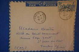 169 ALGERIE LETTRE 1940 POUR TOULON.POSTE NAVALE . TRES RARE AFFRANCHISSEMENT PLAISANT - Lettres & Documents