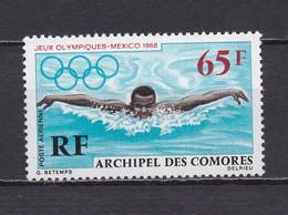 COMORES 1969 PA N°25 NEUF** JEUX OLYMPIQUES DE MEXICO - Poste Aérienne